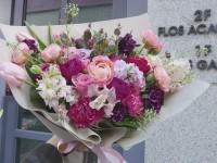 [부산당일꽃배달]환갑축하 피치자주톤 꽃다발12호