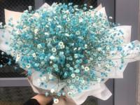 [부산당일꽃배달]블루안개염색꽃다발6호(핑크,보라,라벤더…