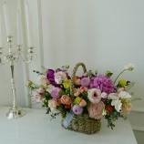 [부산/김해/양산꽃배달]자주 오렌지꽃바구니20호(향기를…